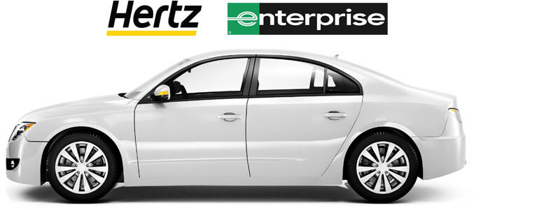 Hertz and Enterprise Rental Car Service